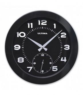 REGAL 0085 BB Ultima Metal Kasa 41 Cm Siyah Duvar Saati