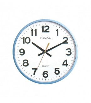 REGAL 0187 BUW Plastik Kasa Beyaz Kadran Duvar Saati
