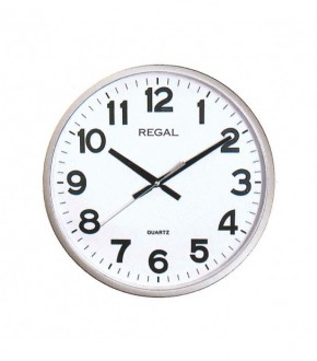 REGAL 0187 WW Plastik Kasa Beyaz Kadran Duvar Saati