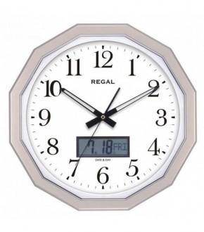 REGAL 0225 GW Dijital Takvimli 16gen Analog Duvar Saati