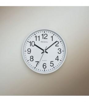 REGAL 0252 WW Regal Yuvarlak 26 Cm Beyaz Duvar Saati