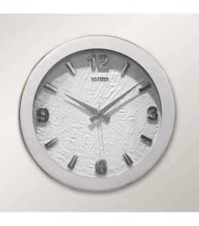 ULTiMA 0085 SDW Ultima Metal Kasa 41 Cm Beyaz Deri Kadran Duvar Saati