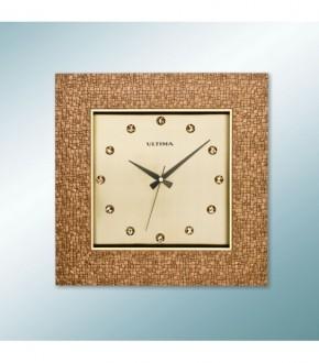 ULTiMA 1370 AP Ultima Kahverengi Koseli Tasli Kadran Duvar Saati