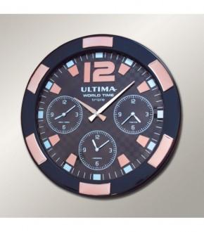 ULTiMA 0085 BBTRO Ultima Metal Kasa 41 Cm Siyah/rose Gold Dunya Saati