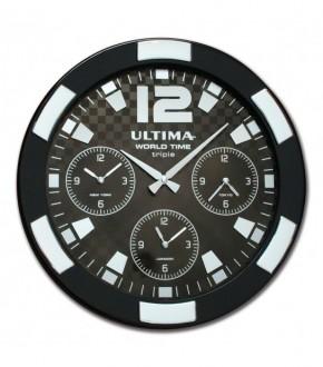 ULTiMA 0085 BBTS Ultima Metal Kasa 41 Cm Siyah/gumus Dunya Saati