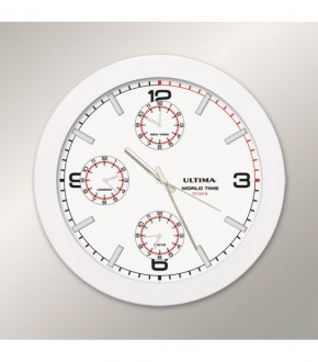 ULTiMA 0085 WWT Ultima Metal Kasa 41 Cm Beyaz Dunya Saati