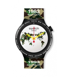 Swatch SO27Z700 BIG BOLD BAPE THE WORLD