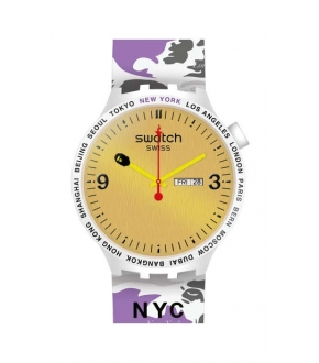 Swatch SO27Z702S BIG BOLD BAPE NYC EDITION